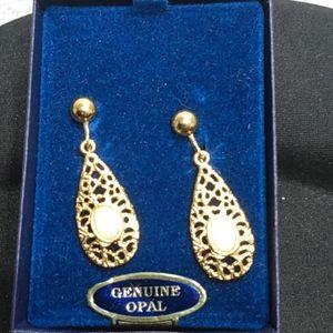 Genuine Opal Earrings